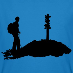 hiking, hiker - man - Men's Organic T-shirt