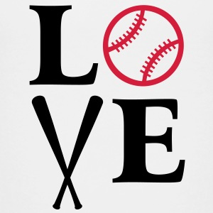 I Love Baseball Base Ball T-Shirts Trikots BB - Teenage Premium T-Shirt