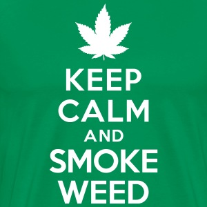 Keep calm and smoke weed Tee shirts - T-shirt Premium Homme