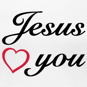 Jesus loves you JESUS T-Shirts - Women's Premium T-Shirt