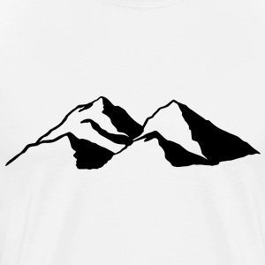 Mountains range snow Skiing Snowboarding T-shirts - Men's Premium T-Shirt