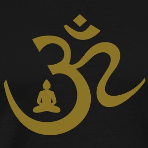 OM SIGN with meditating BUDDHA Yoga T-shirts  - Men's Premium T-Shirt