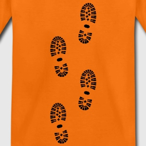 footprints, shoe prints - Teenage Premium T-Shirt
