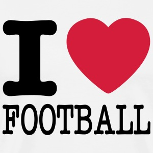 i love football / I heart football  2c T-Shirts - Männer Premium T-Shirt