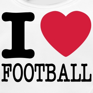 i love football / I heart football  2c Accessoires - Baby Bio-Lätzchen