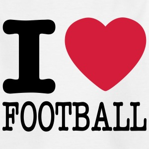 i love football / I heart football  2c Skjorter - T-skjorte for barn
