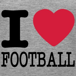 i love football / I heart football  2c Toppar - Premiumtanktopp dam