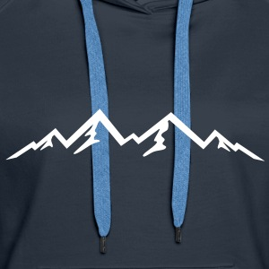 mountain, mountains - Women's Premium Hoodie