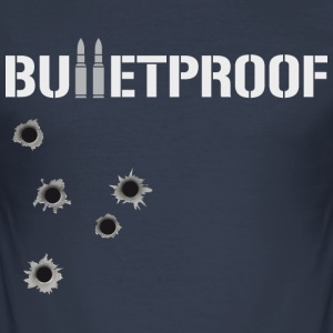 Bulletproof Holes for him - Men's Slim Fit T-Shirt