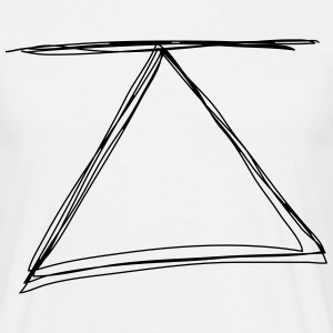 Triangle with line - Männer T-Shirt