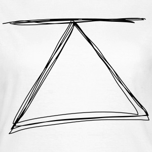 Triangle with line - Frauen T-Shirt