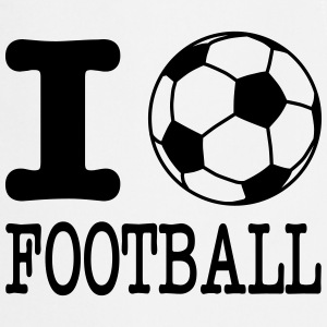 i love football with ball Schürzen - Kochschürze
