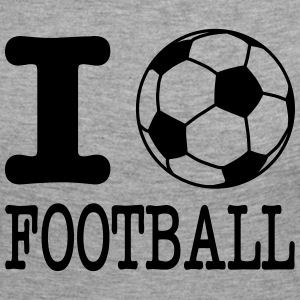 i love football with ball Skjorter med lange armer - Premium langermet T-skjorte for kvinner