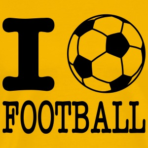 i love football with ball T-skjorter - Premium T-skjorte for menn