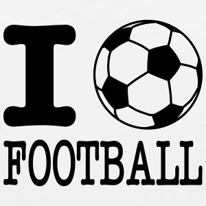 i love football with ball Tanktoppar - Premiumtanktopp herr
