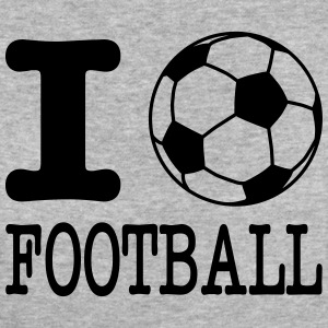 i love football with ball Magliette - T-shirt ecologica da donna