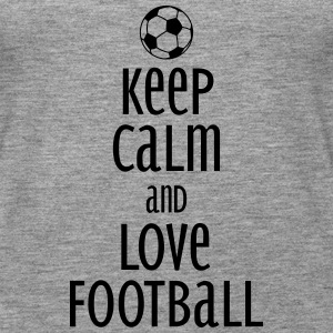 keep calm and love football Toppar - Premiumtanktopp dam