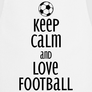 keep calm and love football Tabliers - Tablier de cuisine