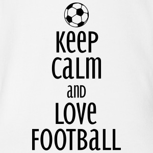 keep calm and love football Shirts - Baby bio-rompertje met korte mouwen