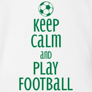 keep calm and play football T-Shirts - Baby Bio-Kurzarm-Body
