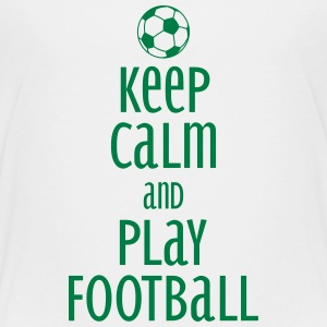 keep calm and play football Koszulki - Koszulka młodzieżowa Premium
