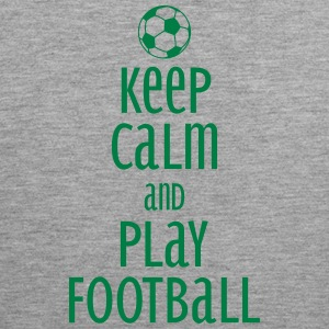 keep calm and play football Tanktoppar - Premiumtanktopp herr