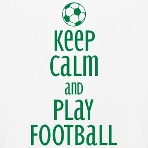 keep calm and play football Langarmede T-skjorter - Premium langermet T-skjorte for barn