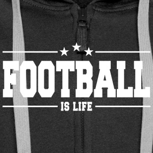 football is life 1 Hoodies & Sweatshirts - Women's Premium Hooded Jacket