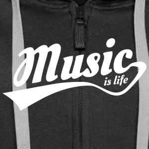 music is life Sweat-shirts - Veste à capuche Premium Femme
