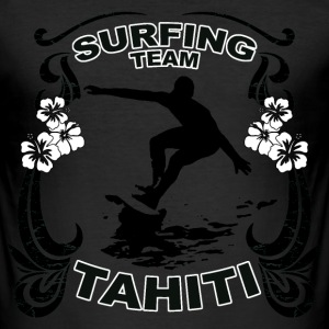 tahiti surfing team T-Shirts - Männer Slim Fit T-Shirt
