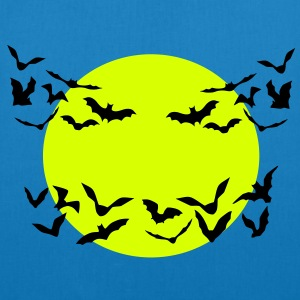 bats & full moon - EarthPositive Tote Bag