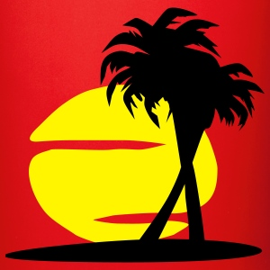 Island Paradise - sun, palm trees, beach - Full Colour Mug