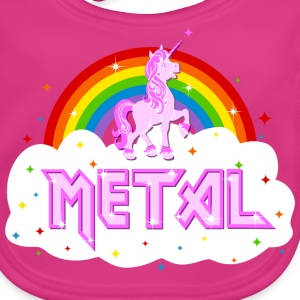 metal music heavy unicorn rainbow funny Accessories - Baby Organic Bib
