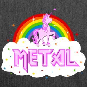 metal music heavy unicorn rainbow funny Bags & Backpacks - Shoulder Bag made from recycled material