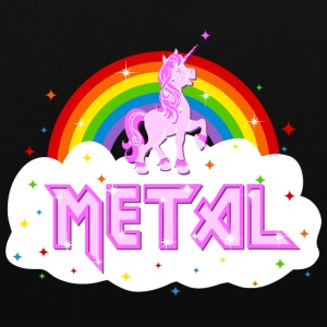 metal music heavy unicorn rainbow funny Bags & Backpacks - Tote Bag