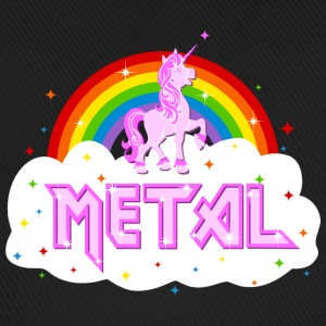 metal music heavy unicorn rainbow funny Caps & Hats - Baseball Cap