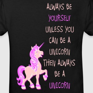 Be a Unicorn Einhorn be yourself pink T-Shirts - Kinder Bio-T-Shirt