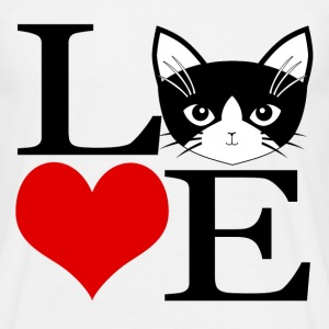 I love cats / J'aime les chats - Herre-T-shirt