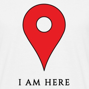 Je suis ici / I am here - T-shirt herr