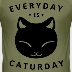 Everyday is caturday - Tee shirt près du corps Homme