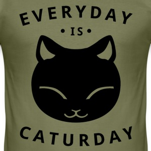 Everyday is caturday - Camiseta ajustada hombre