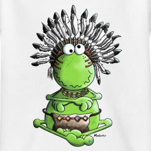 Häuptling Frosch - Indianer T-Shirts - Teenager T-Shirt