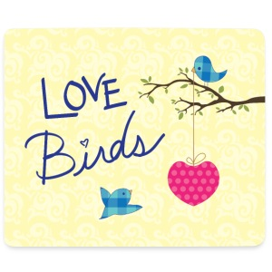 Love birds - Mousepad (Querformat)