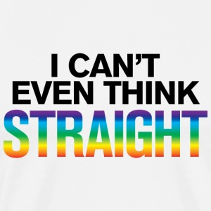 Hvid I Can't Think Straight – Gay Pride T-shirts - Herre premium T-shirt