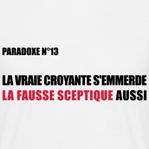 paradoxe Fausse sceptique Tee shirts - T-shirt Homme