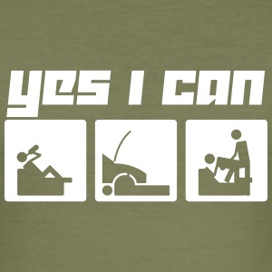 Yes I can (Vector) - Männer Slim Fit T-Shirt