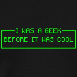i was a geek cool T-shirts - Mannen Premium T-shirt