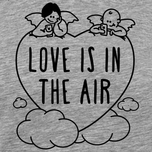 valentine - love is in the air 1c T-Shirts - Men's Premium T-Shirt