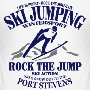 ski jumping - ski flying - skijumper T-Shirts - Men's Slim Fit T-Shirt
