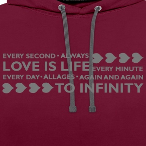 LOVE IS LIFE Sweat-shirts - Sweat-shirt contraste